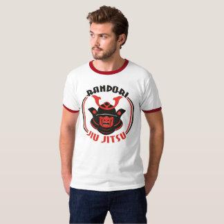 男性Randori Jiu Jitsuの信号器のTシャツ Tシャツ