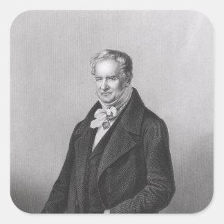 男爵のアレクサンダー・フォン・フンボルトポートレート スクエアシール