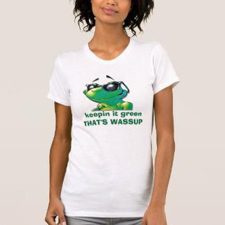 男、keepinのそれgreenTHATのWASSUP Tシャツ