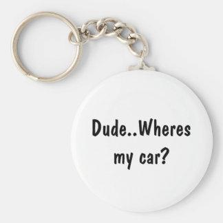 男。Wheres私の車か。 キーホルダー