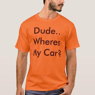 男。Wheres私の車か。 Tシャツ
