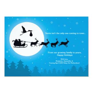 町のクリスマスの妊娠の発表へ来ること 12.7 X 17.8 インビテーションカード