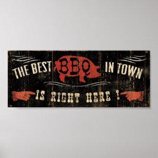 町のベストBBQ ポスター