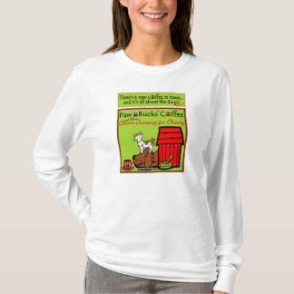 町の女性長袖のワイシャツの新しいコーヒー Tシャツ