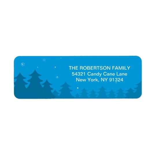 町の差出人住所に来る妊娠のクリスマス 返信用宛名ラベル