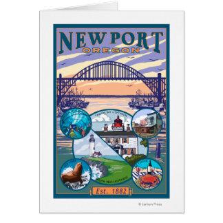 町の意見-ニューポート、オレゴン カード