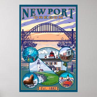 町の意見-ニューポート、オレゴン ポスター