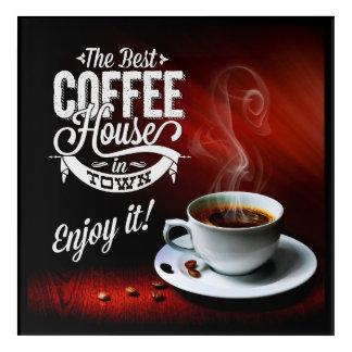 町の最も最高のな喫茶店 アクリルウォールアート