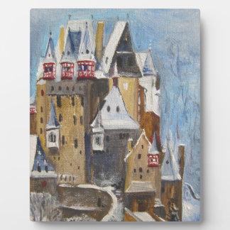 町のEltzの油絵 フォトプラーク