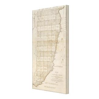 町区の7つの範囲の地図をつくって下さい キャンバスプリント