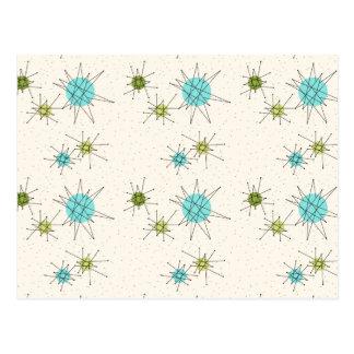 画像的な原子スターバストの郵便はがき ポストカード