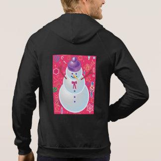 画像的な雪だるま パーカ