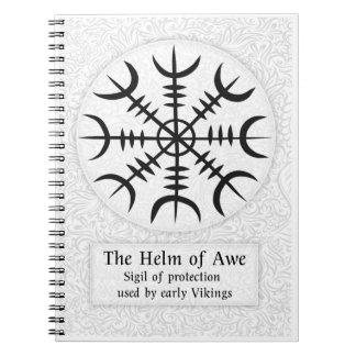 畏怖のアイスランドの魔法の印-白の舵輪 ノートブック