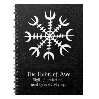畏怖のアイスランドの魔法の印-黒の舵輪 ノートブック