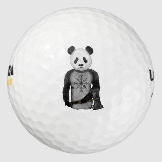 畏怖のパンダのバイキングの舵輪 ゴルフボール