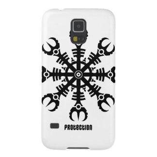 畏怖- Aegishjalmur No.2 (黒)のヘルメット Galaxy S5 ケース