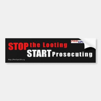 略奪をストップ-豊富なstickeを行ない始めて下さい バンパーステッカー
