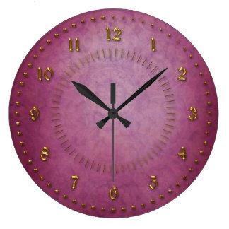 番号が付いているラズベリーによって着色されるグランジ ラージ壁時計