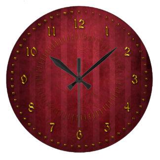 番号が付いている豊富な赤の除去されたグランジ ラージ壁時計
