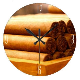 (番号を付けられた) LaのRomanaの先生からの手によって転がられるシガー ラージ壁時計