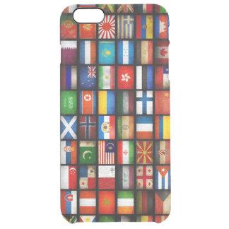異なった国の旗 クリア iPhone 6 PLUSケース