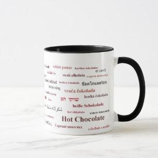 異なった言語(3color2)のココアのマグ マグカップ