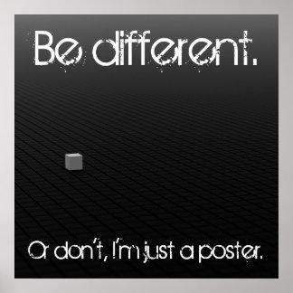 異なっていて下さいあって下さいまたは ポスター