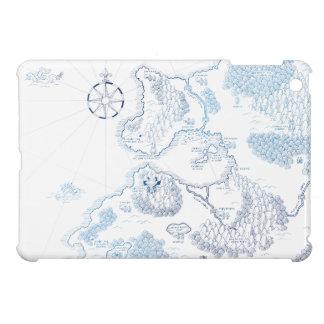 【異世界地図-青】Another world map(blue) iPad Miniケース