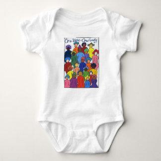 、異人種間民族、ベビーのための多様性のTシャツ ベビーボディスーツ