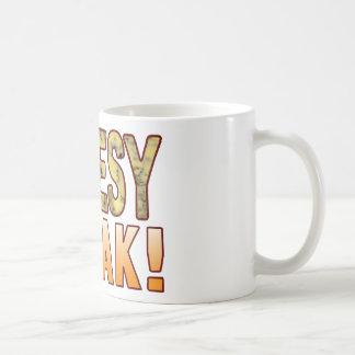 異常で青い安っぽい コーヒーマグカップ