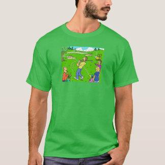 異常なゴルフ打撃の反動 Tシャツ