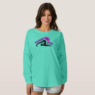 異常なヨーガ行者の印が付いている女性のジャージーのワイシャツ スピリットジャージー