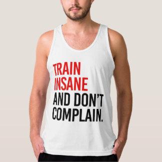 異常な列車は不平を言わないし、 タンクトップ