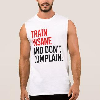 異常な列車は不平を言わないし、 袖なしシャツ