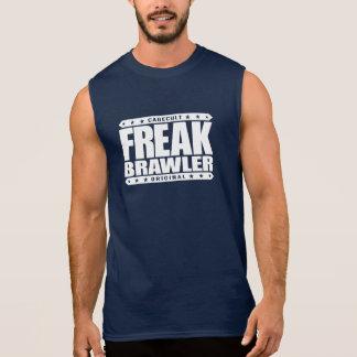 異常な喧嘩屋-打ち破られたことがなく超人的なストリート・ファイター 袖なしシャツ