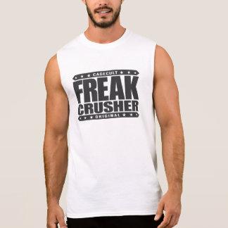 異常な粉砕機-警告します: 超人的なストリート・ファイター 袖なしシャツ