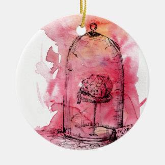 異常な頭脳の水彩画のデザイン 陶器製丸型オーナメント