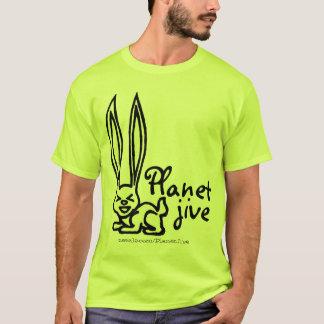 異常に長い耳のワイシャツが付いている惑星のジャイヴのウサギ Tシャツ