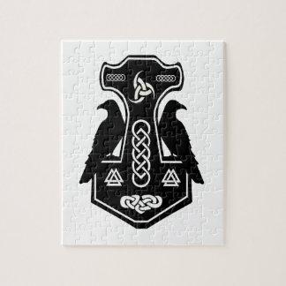 異教のなケルト族のNorseのトールのハンマー ジグソーパズル