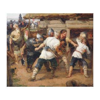 異教徒は最初のクリスチャンを殺しました キャンバスプリント