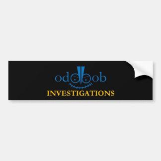 異様なボブの調査のロゴの付属品 バンパーステッカー