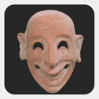 異様なマスク、Motyaから、紀元前の6世紀(terrac スクエアシール