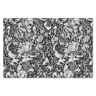 異様な庭の白黒ティッシュペーパー 薄葉紙