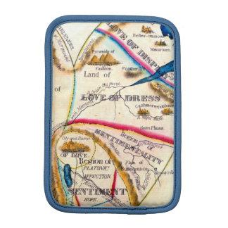 異様な愛感情の感覚のヴィンテージのロマンチックな地図 iPad MINIスリーブ