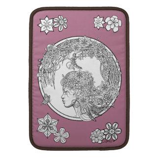 異様な花: Sonja A.S.著DIYの大人の着色 MacBook スリーブ