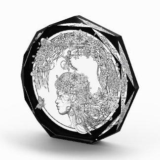 異様な花: Sonja A.S. Acrylic Award著 表彰盾