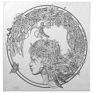 異様な花: Sonja A.S. Cloth Napkins著 ナプキンクロス