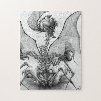 異様な骨の恐怖モンスターの元の芸術のパズル ジグソーパズル