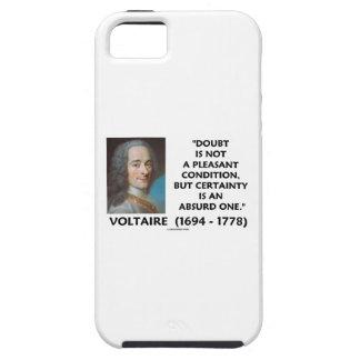 疑いの気持が良くない状態の確実性Voltaire iPhone SE/5/5s ケース