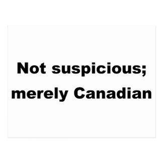 疑わなかった; ただカナダ ポストカード